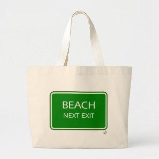 Beach Next Exit Large Tote Bag