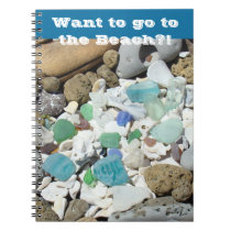 Beach notebooks Want to go to The Beach?! notebook