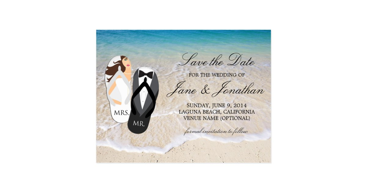 Beach Wedding Postcards | Zazzle
