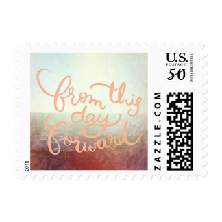 Beach Ocean Outdoor Wedding From this Day Forward Postage