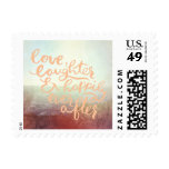 Beach Ocean Outdoor Wedding Happily Ever After Postage