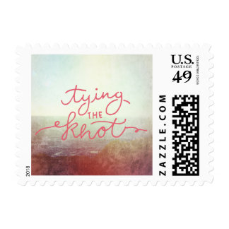 Beach Ocean Outdoor Wedding Tying the Knot Postage