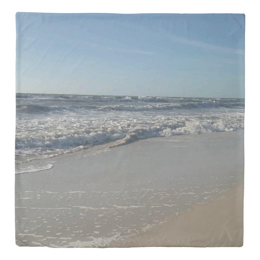 Beach Ocean Print Duvet Cover