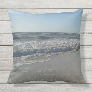 Beach Ocean Print Throw Pillow