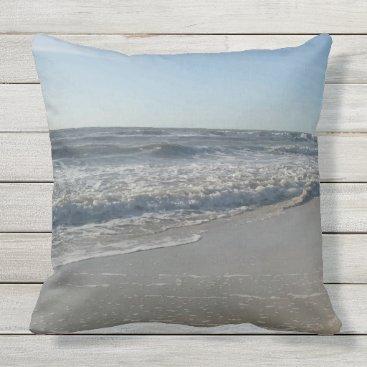 Beach Themed Beach Ocean Print Throw Pillow
