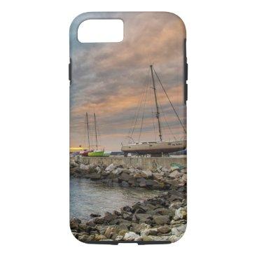 Beach Themed Beach  Ocean Shore  Sail Boat Cell Phone Case