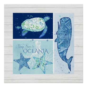 Beach Themed Beach Ocean Shore Wall Art Whale Turtle Starfish