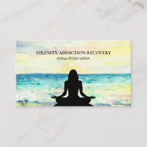 *~* Beach Ocean Sunrise Sea Mindfulness Meditation Business Card
