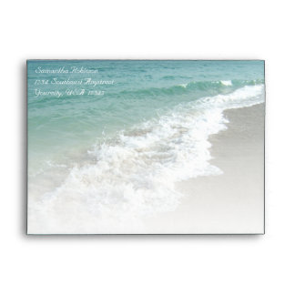 Beach Ocean Surf Envelope