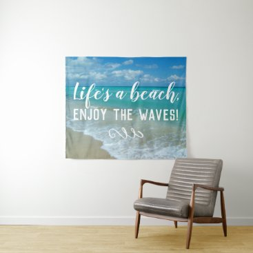 Beach Ocean Wall Hanging Life's a Beach Waves Tapestry
