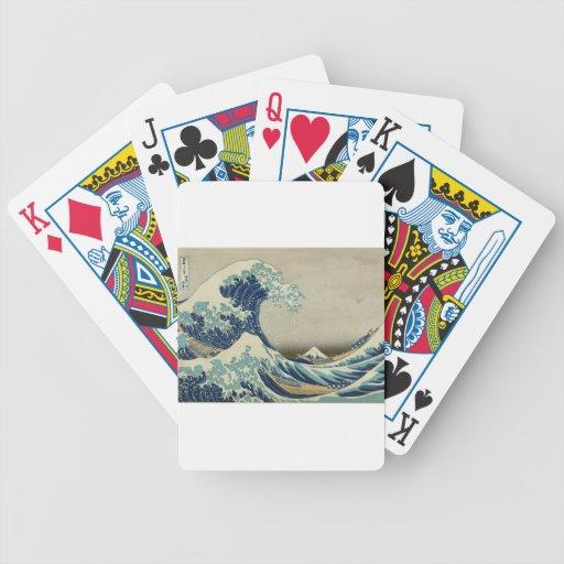Beach Ocean Water Sea Art Great_Wave_off_Kanagawa Bicycle Playing Cards