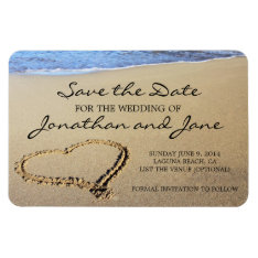Beach Ocean Wedding Deluxe Save The Date Magnet at Zazzle