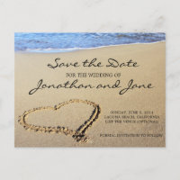 Beach Ocean Wedding Save the Date Announcement Postcard