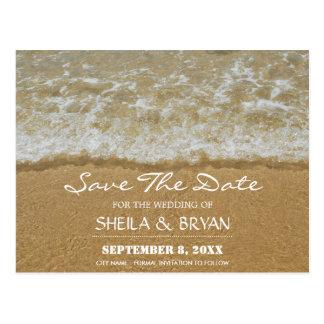 Beach Ocean Wedding Save The Date Post Card