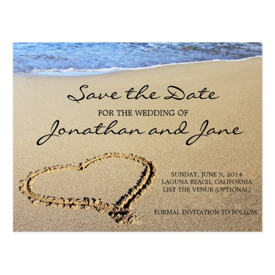 Beach Ocean Wedding Save The Date Postcard | Zazzle