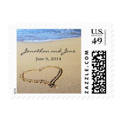 Beach Ocean Wedding Stamps