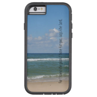 Beach Ocean with Bible Verse Tough Xtreme iPhone 6 Case