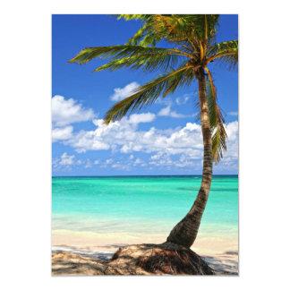 Beach of a tropical island card