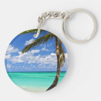 Beach of a tropical island keychain
