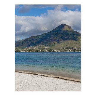 Beach of Flic en flac overlooking Tourelle du Tama Postcard