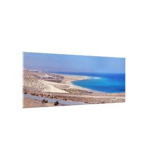 Beach of Leeward in Fuerteventura. Canvas Print