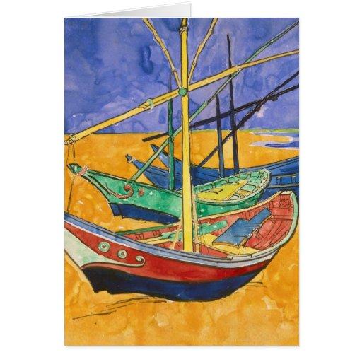 Beach of Les-Saintes-Maries - Vincent Van Gogh Card