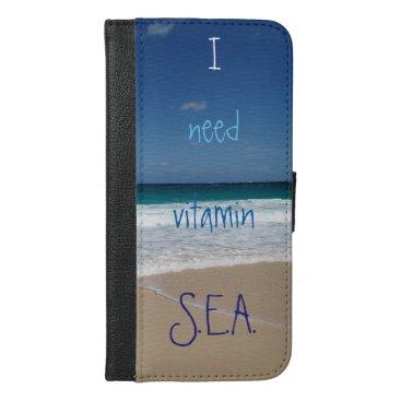 Beach Themed Beach of Nassau,Bahamas iPhone 6/6s Plus Wallet Case