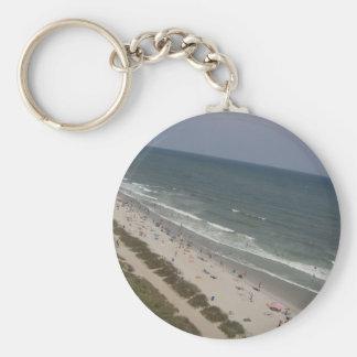 Beach of South Carolina Basic Round Button Keychain