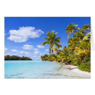 Beach Of Tapuaetai | Aitutaki, Cook Islands Card