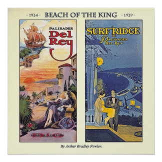 Beach of The King by Arthur Bradley Fowler Poster