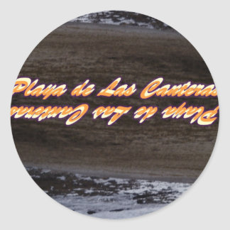 Beach of the Quarries Classic Round Sticker
