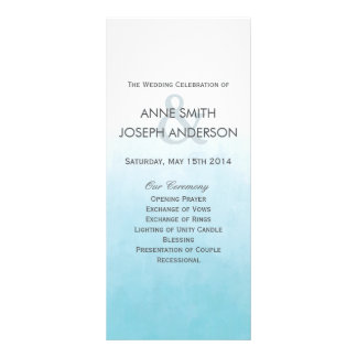 Beach ombre wedding program