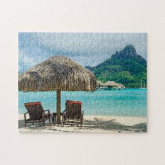 Beach on Bora Bora jigsaw puzzle