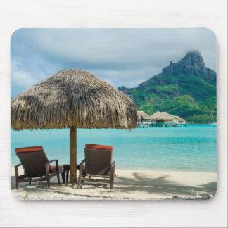 Beach on Bora Bora mousepad