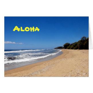 Beach on Lanai, Hawaii, Aloha, Hello Greeting Card