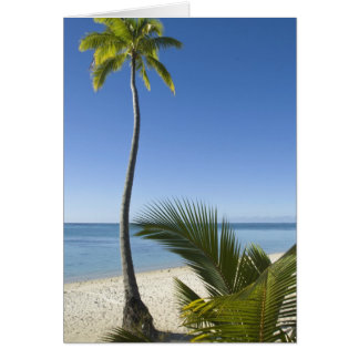 Beach on mainland Aitutaki, Cook Islands Card