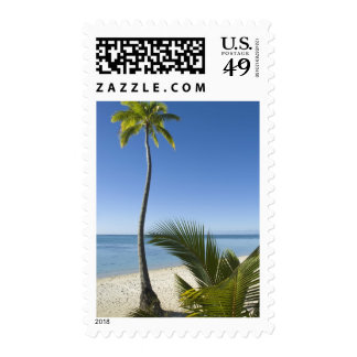 Beach on mainland Aitutaki, Cook Islands Postage Stamps