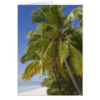 Beach on One Foot island, Aitutaki, Cook Islands Card