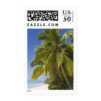 Beach on One Foot island, Aitutaki, Cook Islands Postage