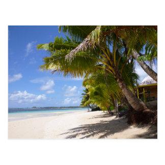 Beach on Samoa Savaii Postcard