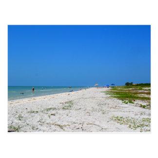 Beach on Sanibel Island Postcard