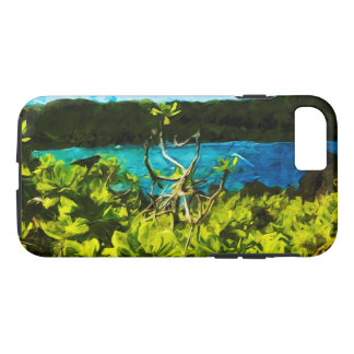 Beach On the Road to Hana Maui Abstract iPhone 7 Case