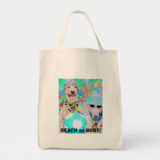 BEACH or BUST! Grocery Tote Bag