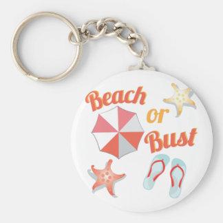 Beach Or Bust Basic Round Button Keychain