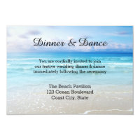 Beach or Destination Wedding Insert Invitation