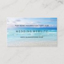 Beach or Destination Wedding Website Insert Card