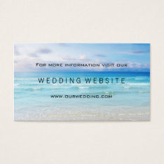 Beach Or Destination Wedding Website Insert Card at Zazzle