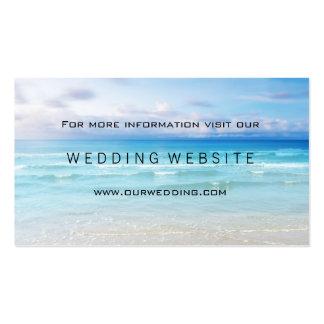 Beach or Destination Wedding Website Insert Card Business Card