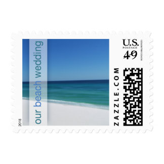 Beach Our Beach Wedding Small Postage