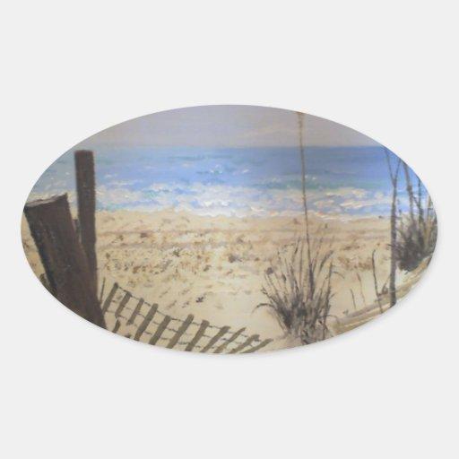 Beach Oval Sticker